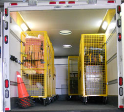 Custom Carts Inside EMS Unit