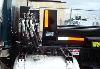 On-Trux Tri-Axle Roll-Off System: exterior controls
